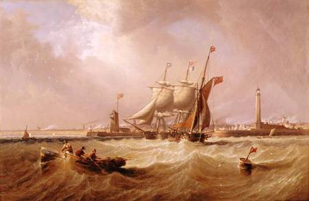 Entrance to Sunderland Harbour (1864) - James Wilson Carmichael
